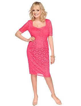 This gorgeous pink floral lace bodycon dress is a great pick for special occasions. Shh don't tell anyone but it also has secret support built into the fabric to enhance your figure.
