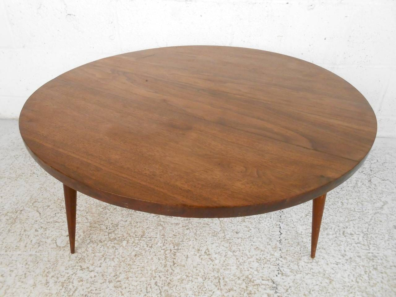 Mid century modern small round coffee table mid century mid mid century modern small round coffee table geotapseo Image collections