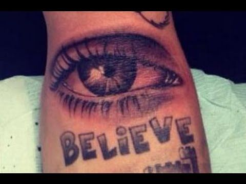 Justin bieber 39 s new all seeing eye tattoo crazy for Justin bieber eye tattoo