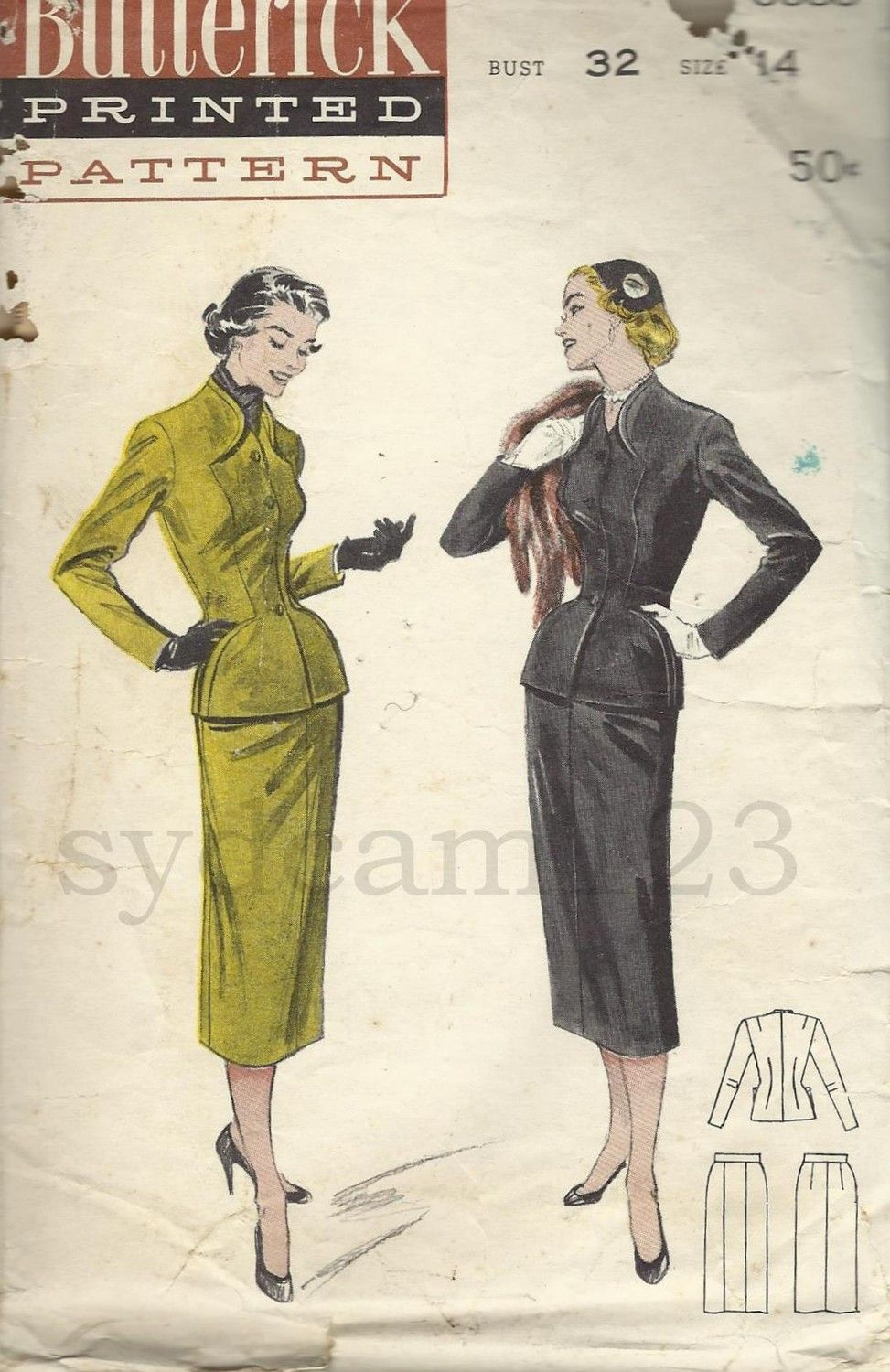 1950\'s Sewing Pattern   A little stitch here a little stitch there ...