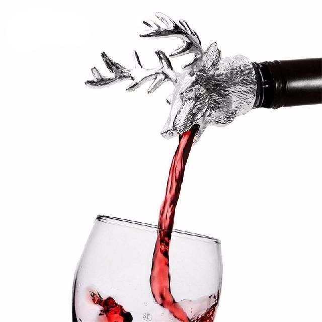 Stainless Steel Deer Head Shaped Wine Pourer 17.95 and FREE Shipping Tag a friend who would love this! Active link in BIO