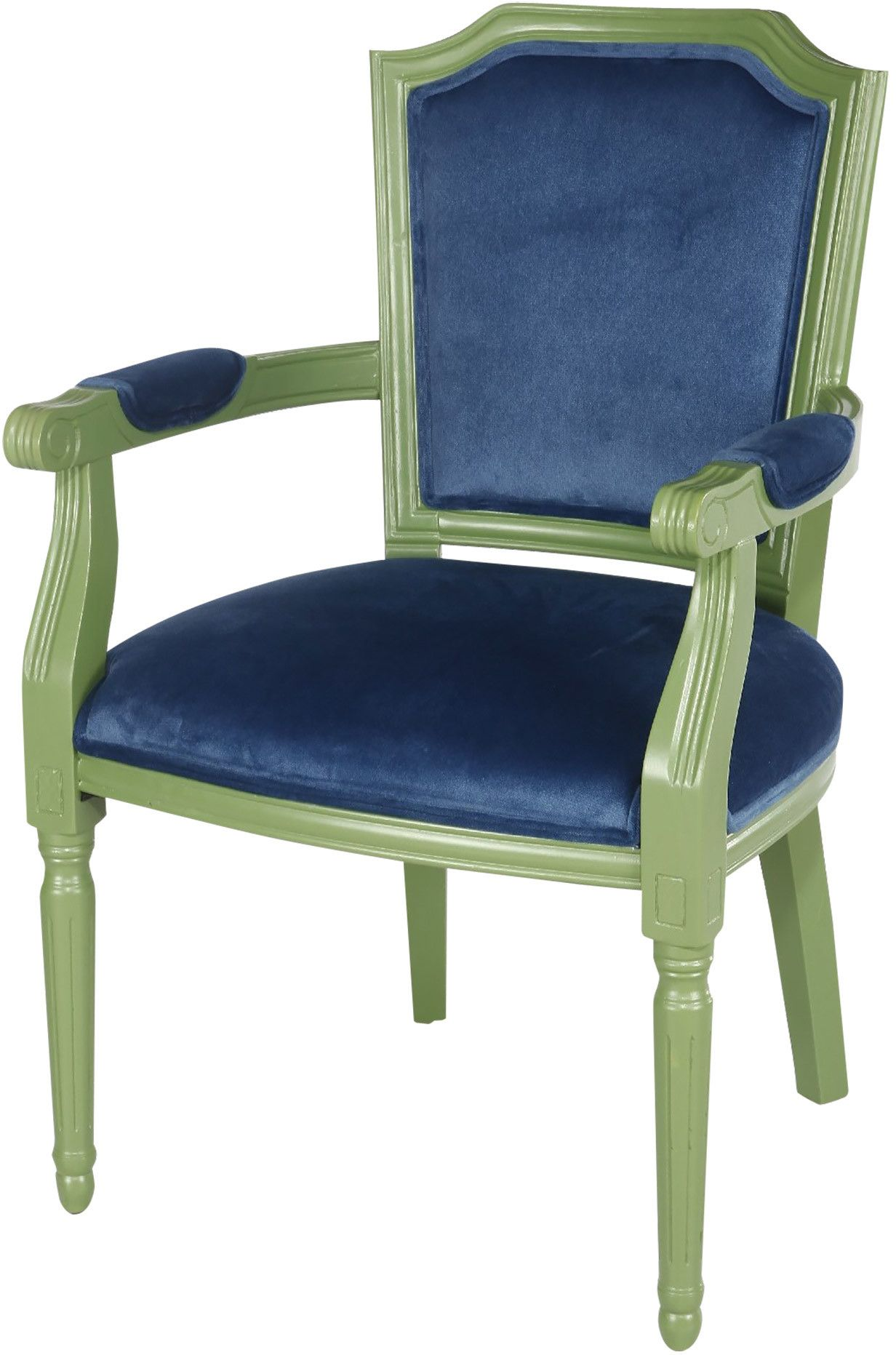 Natalia Velvet Arm Chair Blue accent chairs, Green