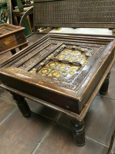 Hand Crafted Antique Old Door Indian Coffee Table Furniture NEW