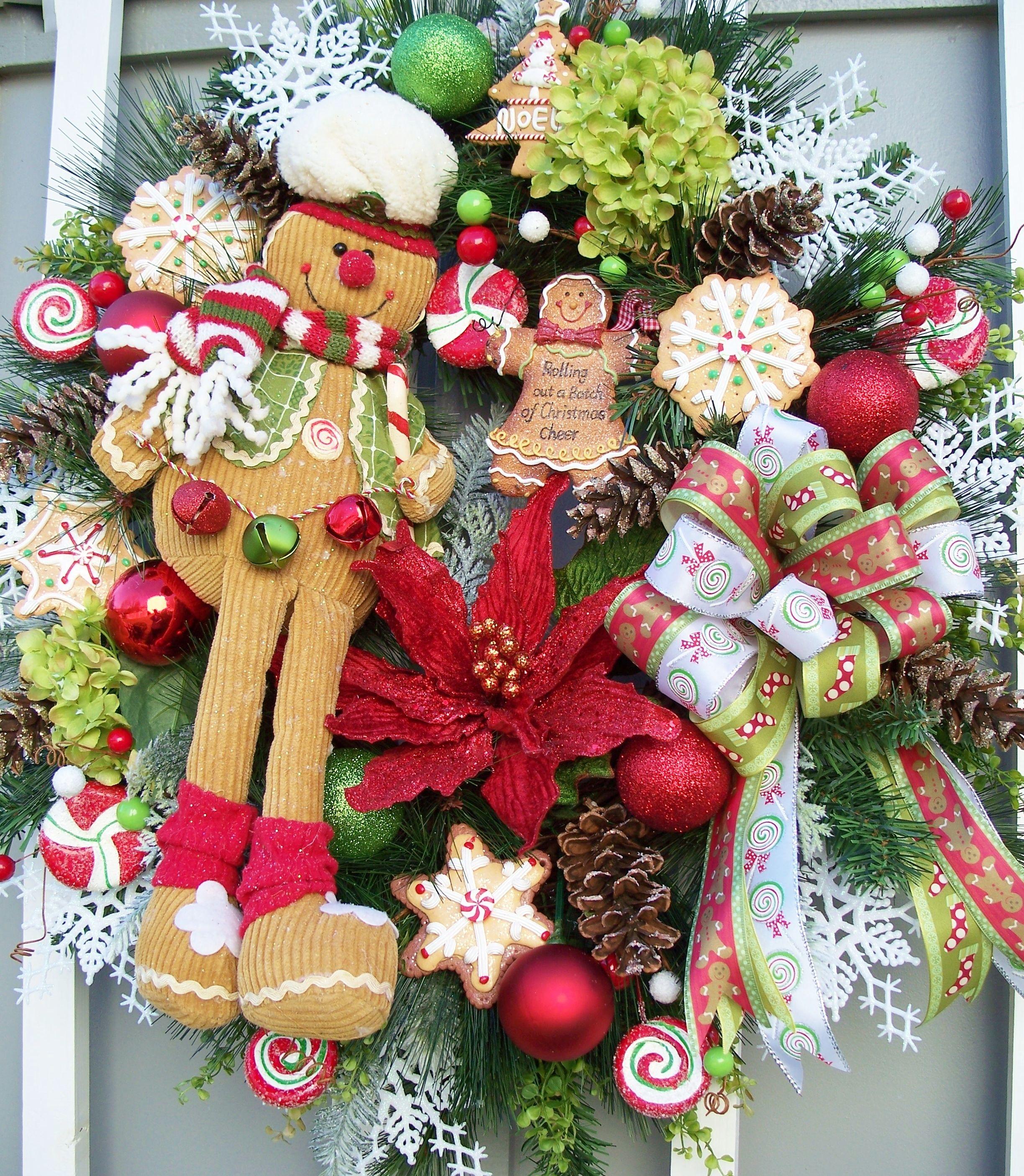 Christmas holiday wreath http www - Coronas navidenas faciles ...