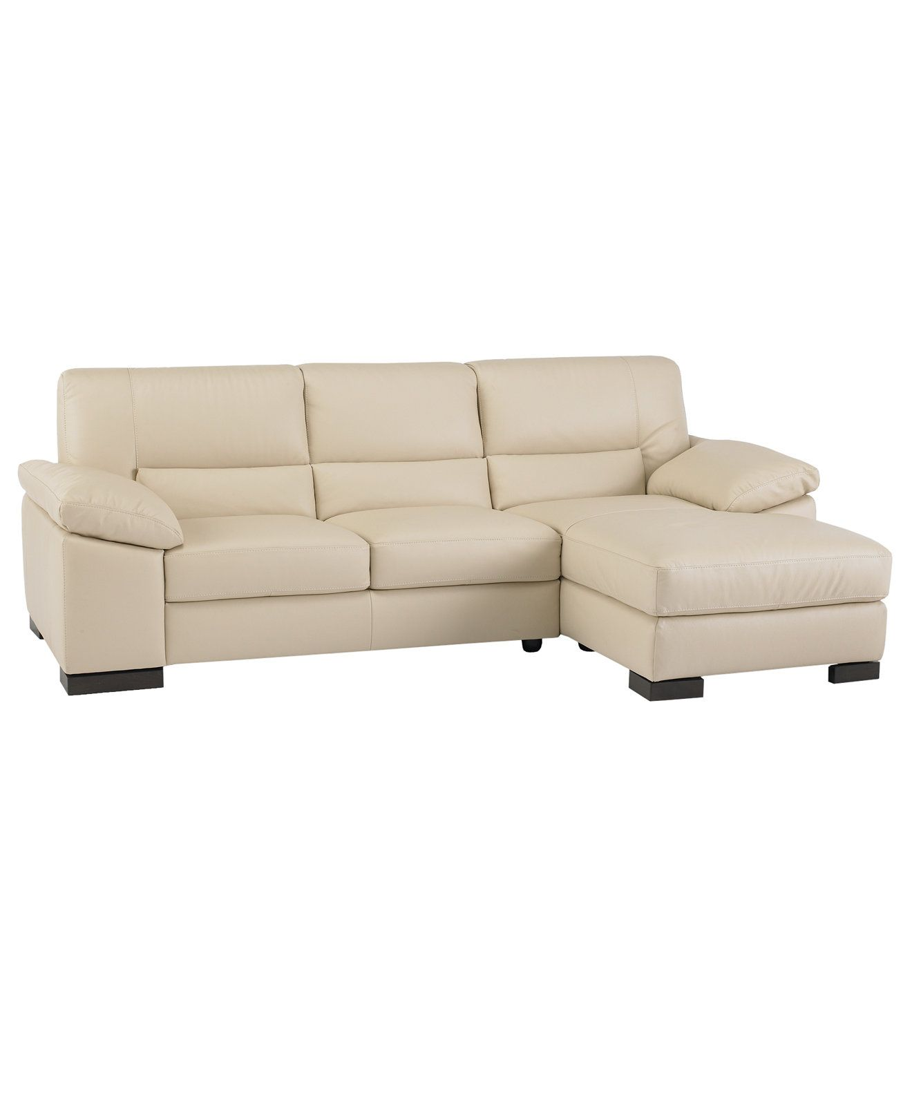 Spencer Leather Sectional Sofa (One Arm Loveseat U0026 One Arm Chaise)   Couches  U0026 Sofas   Furniture   Macyu0027s