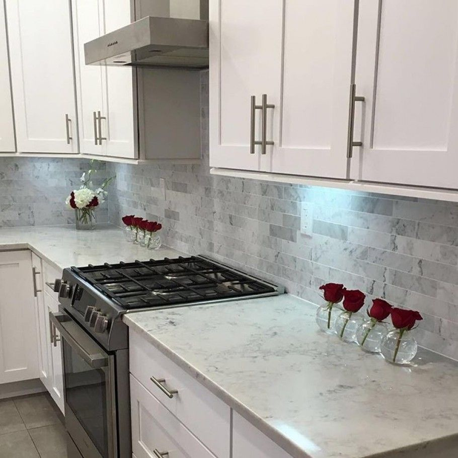 Brushed 2x8 Marble Tile Stone Carrara Subway In 2020 Marble
