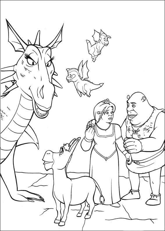 Dibujos para Colorear Shrek 18 | Dibujos para colorear para niños ...