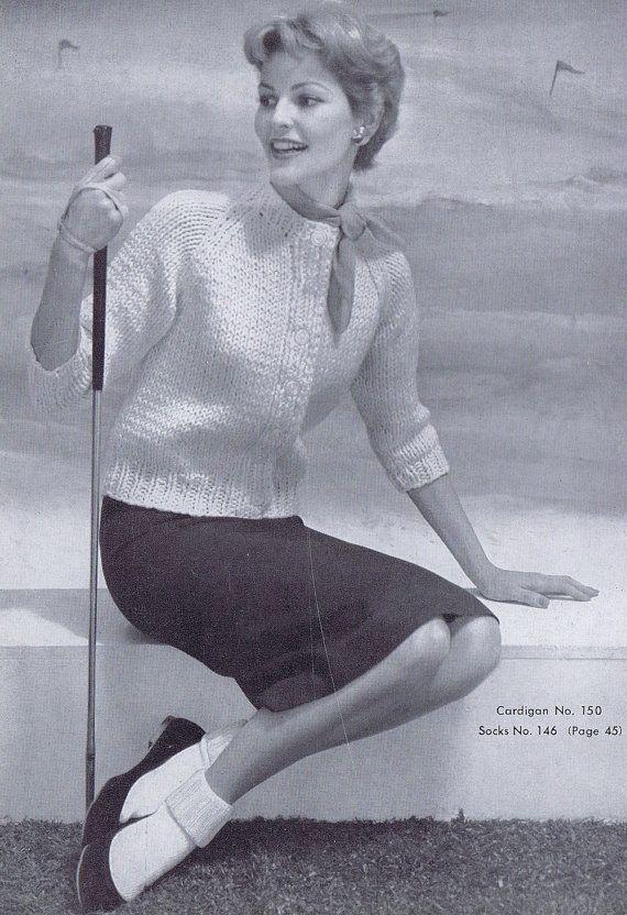 3/4 Sleeve Women's Cardigan Vintage by VintagePatternPlace on Etsy, $4.99