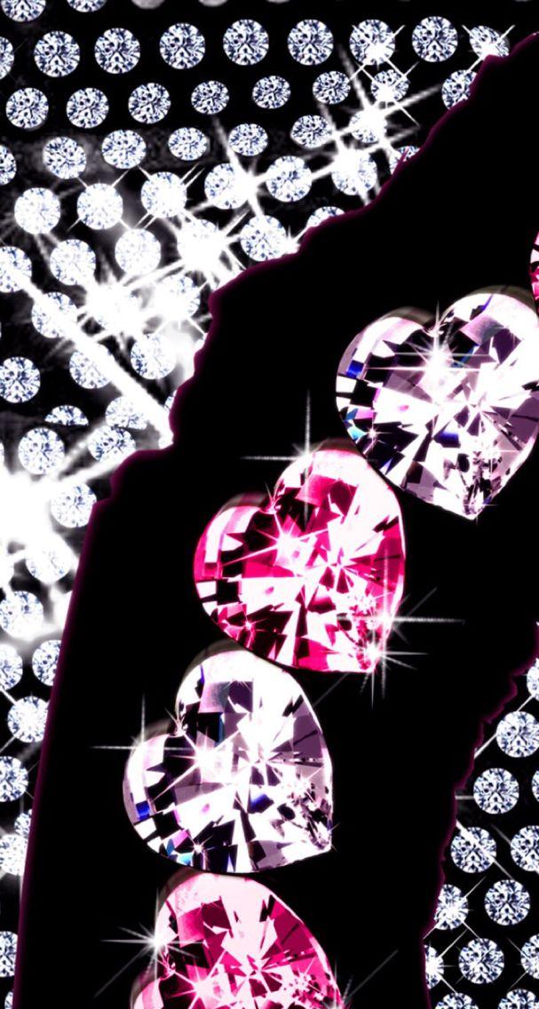 sparkle ♥   Heart iphone wallpaper, Bling wallpaper, Heart ...