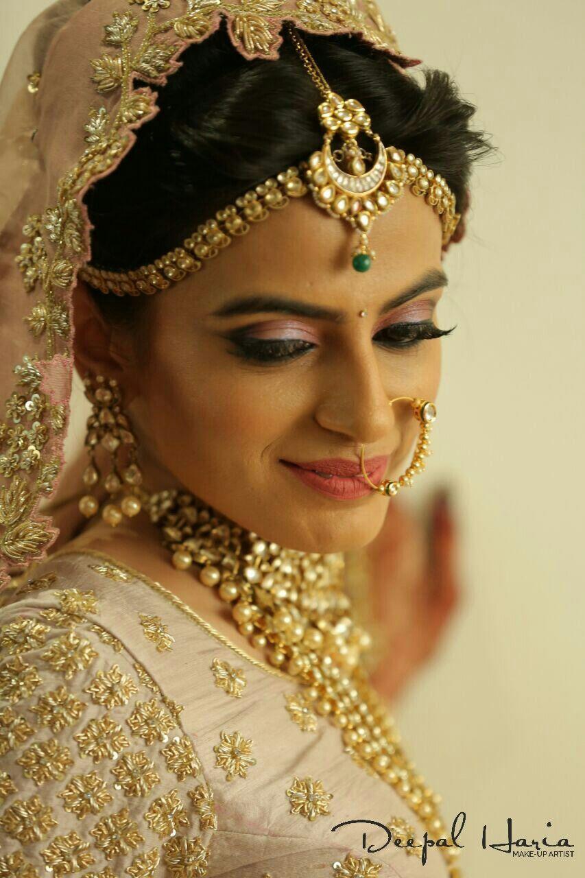 Minimal Makeup For The Bride. Makeup By Deepal Haria
