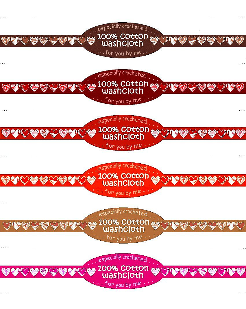 It is an image of Crafty Printable Crochet Labels