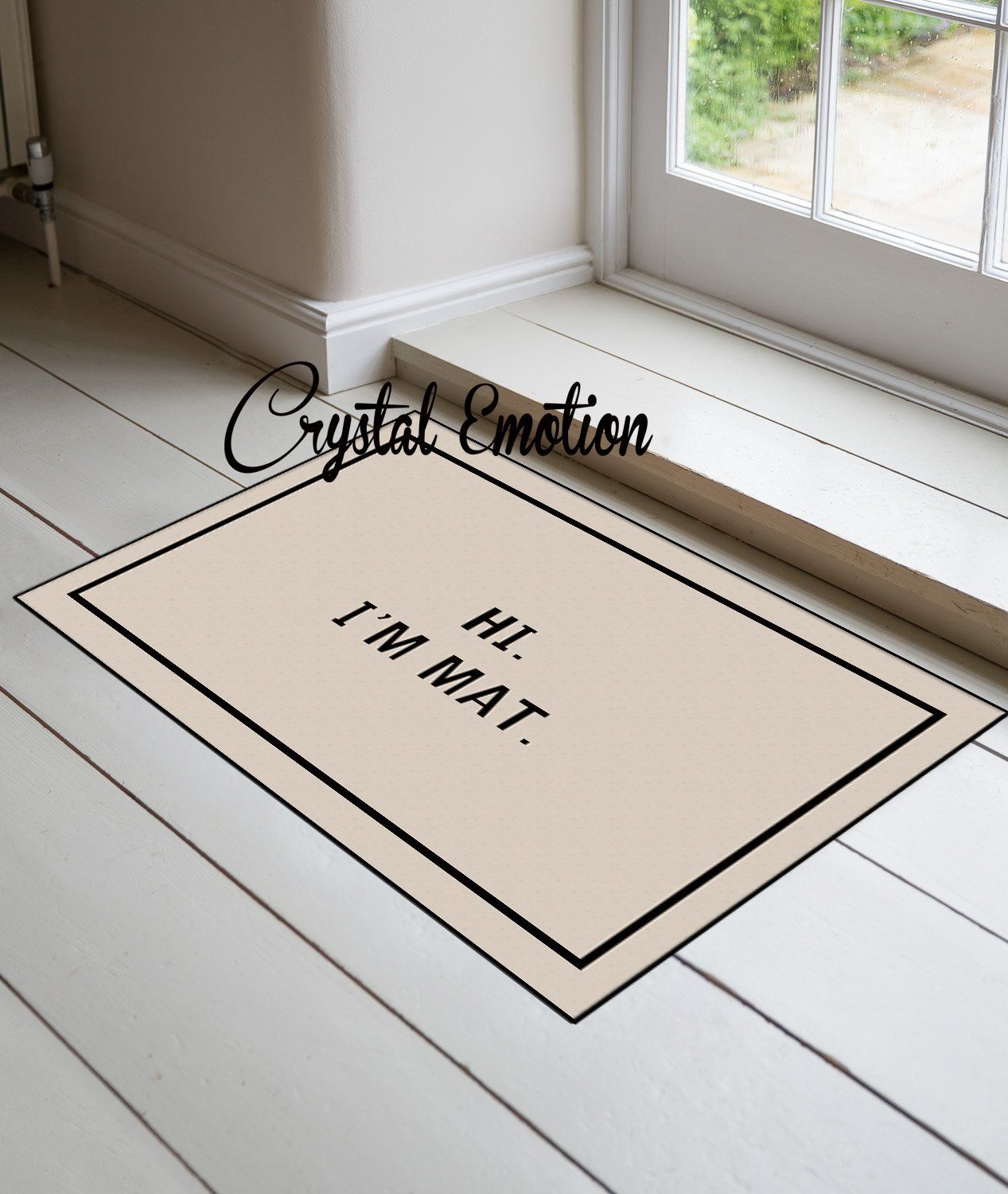 Exceptionnel Crystal Emotion Decorative Door Mat Hi I Am Mat Outdoor And Indoor Doormat  Non Woven