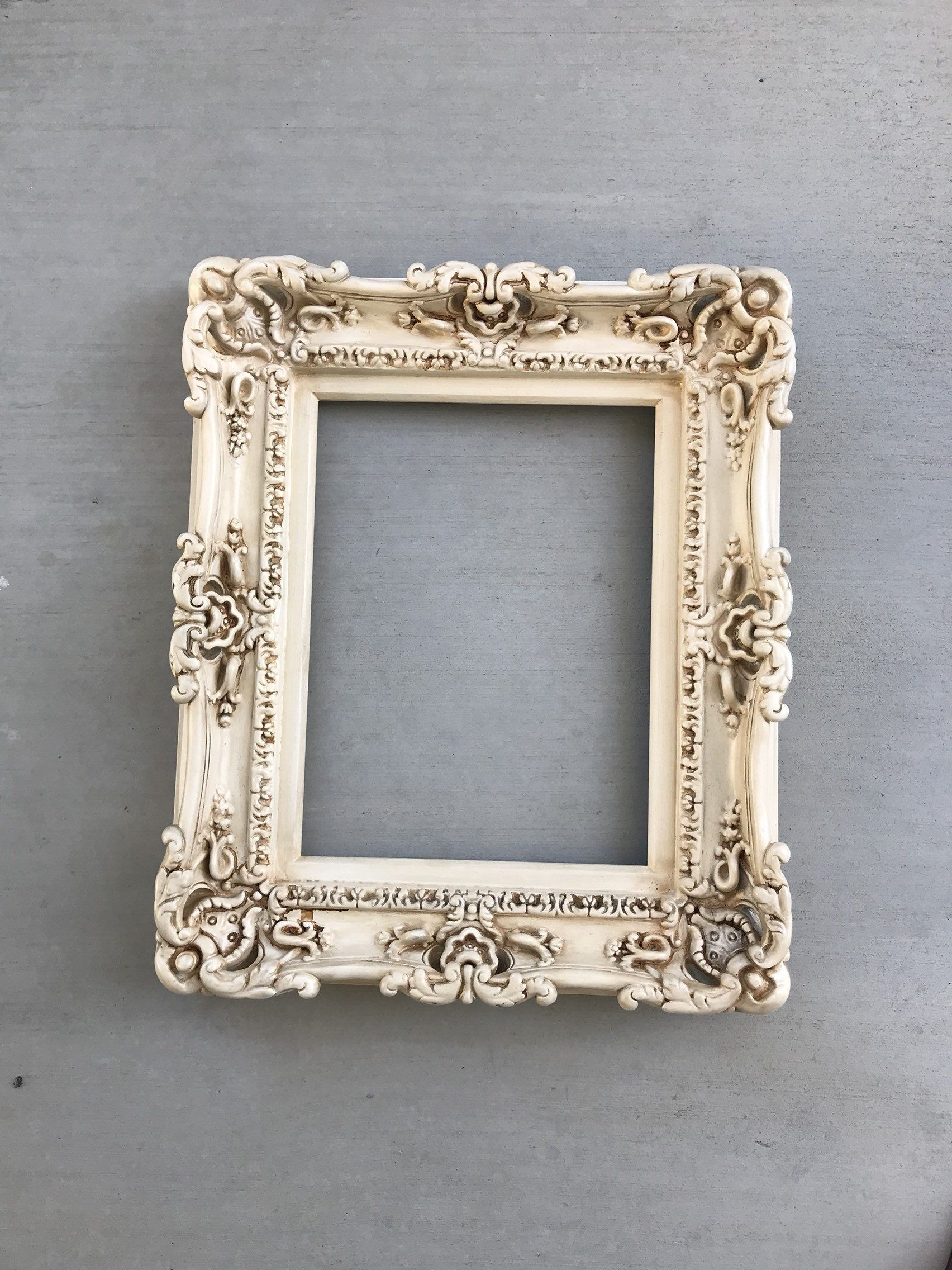 12x16 Vintage Shabby Chic Frame Decorative Baroque Frame Etsy In 2020 Chic Frames Ornate Picture Frames Shabby Chic Picture Frames