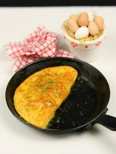 1:12th scale - French herb omelette