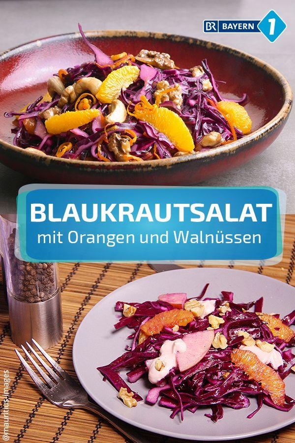 Salat mit Blaukraut und Orangen