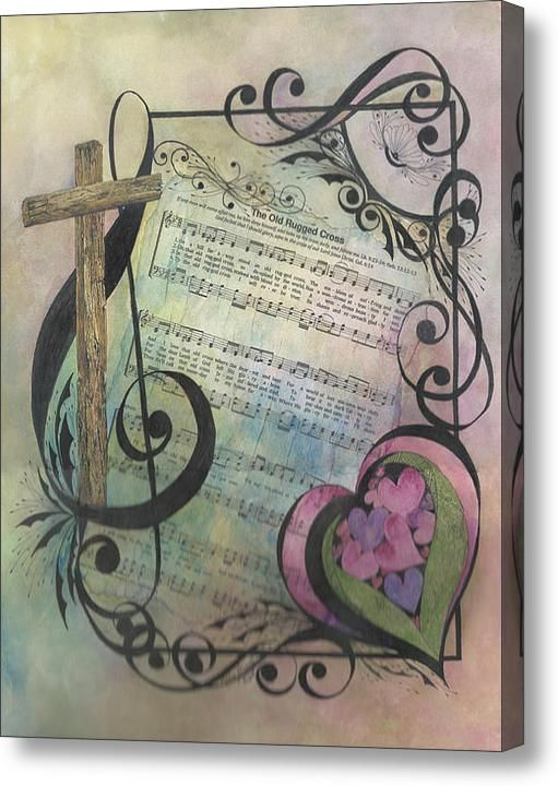 The Old Rugged Cross Acrylic Print By Meldra Driscoll