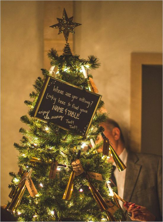 A Christmas Tree Seating Chart For New Year S Eve Wedding
