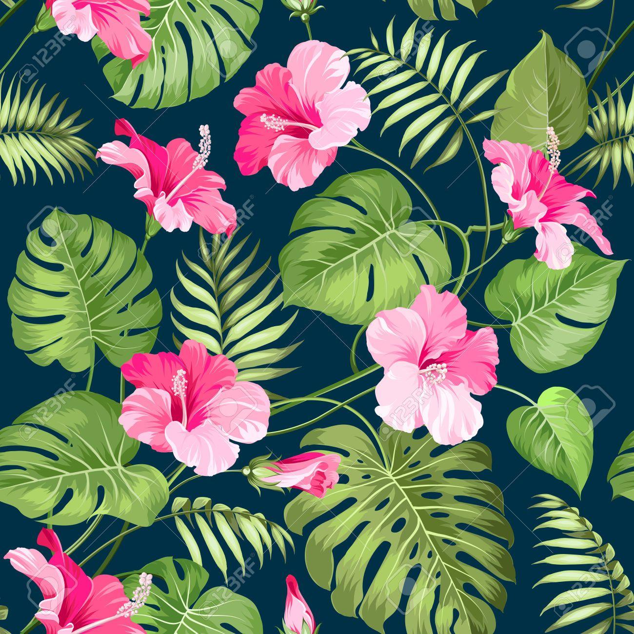 Ilustraciones flores tropicales buscar con google - Flores tropicales fotos ...