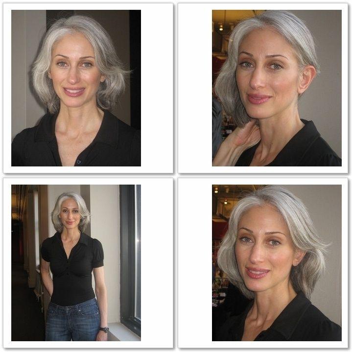 transition cheveux gris