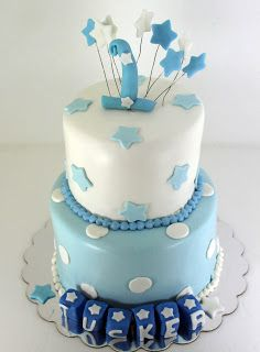 Baby Boy Blue 1st Birthday Cake Boys First Birthday Cake Boy
