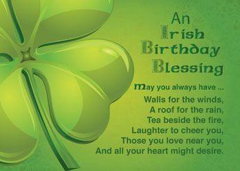 Irish birthday blessing sentiments quotes art etc irish birthday blessing m4hsunfo