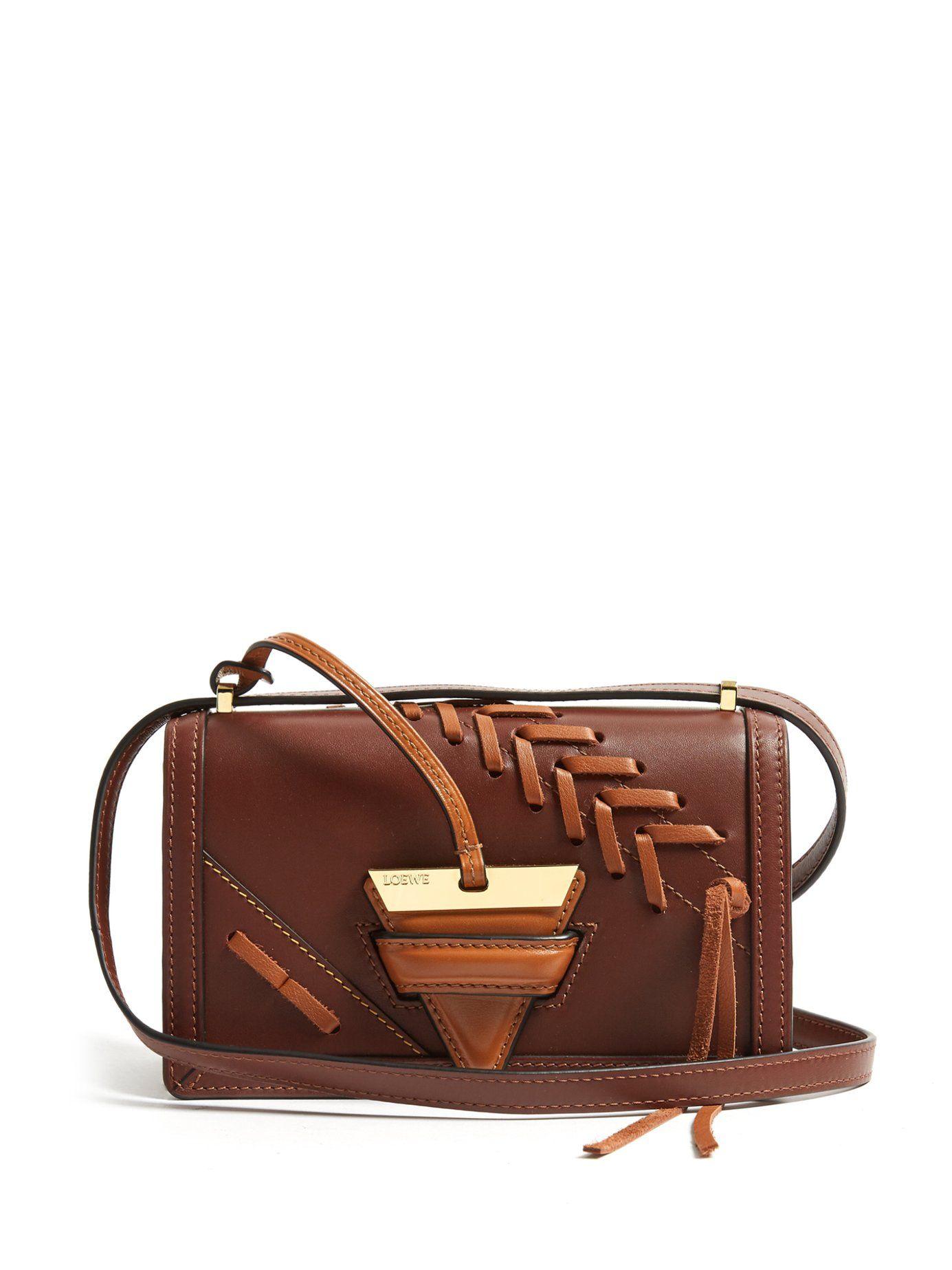c30420474370 Loewe Barcelona Small Leather Cross-Body Bag In Tae