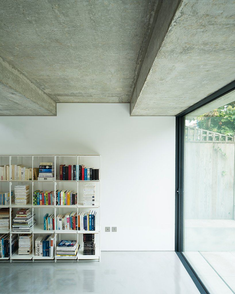 Concrete Extension With Waffle Roof Added To London Residence By Bureau De Change Architects In 2020 House Roof Roof Design London Residence