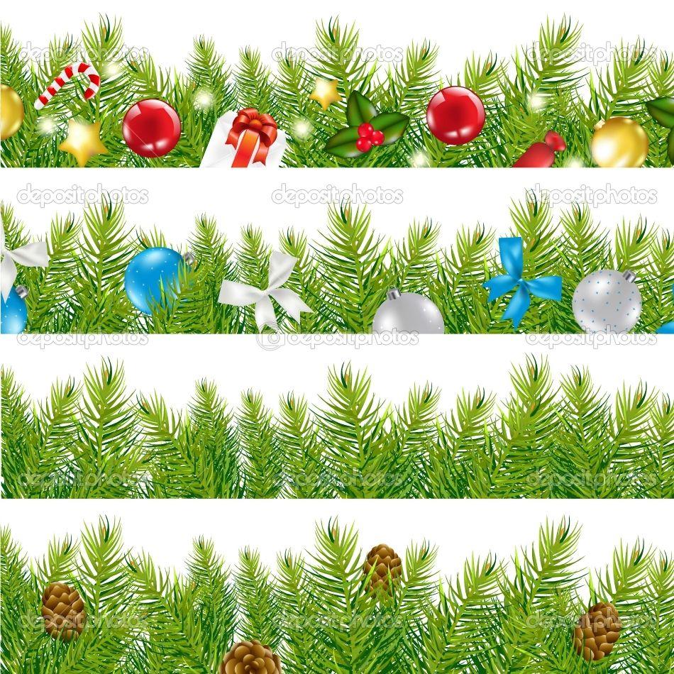 christmas borders Google Search Christmas tree set