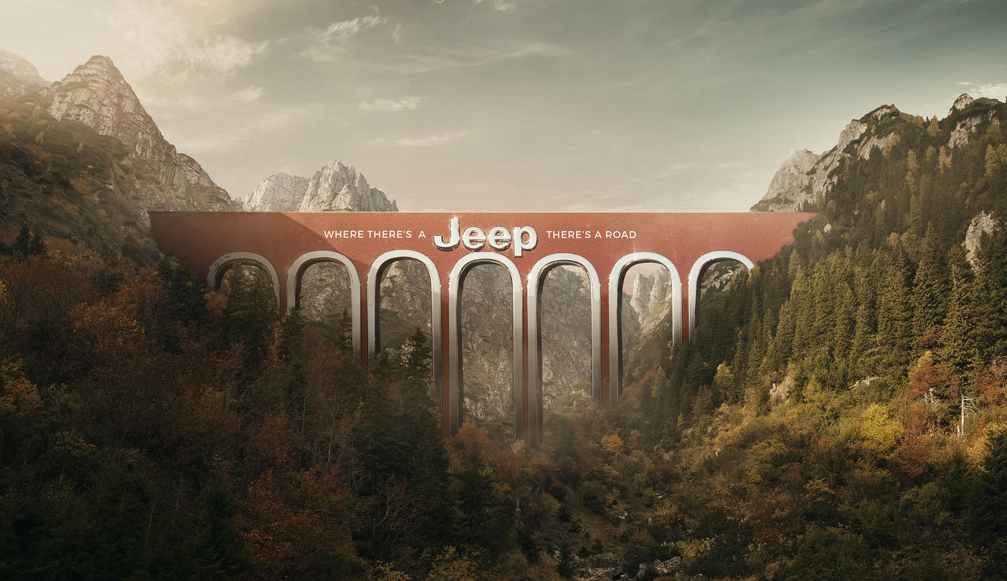 """Jeep: """"Where there's a Jeep, there's a road"""" (JeffersonAndSon)"""
