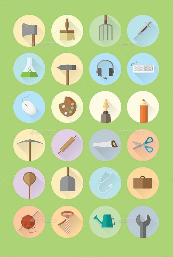 Work Hobby Icon Set Fonts Logos Icons Icon Set Icon Design