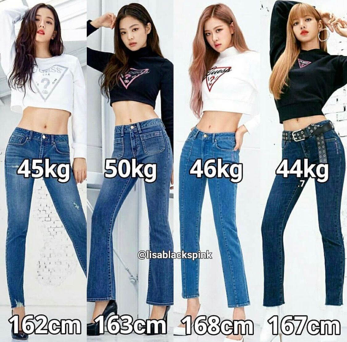 Blackpink Height And Weight Blackpink Reborn 2020