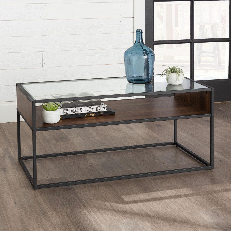 Manor Park Industrial Modern Open Shelf Coffee Table