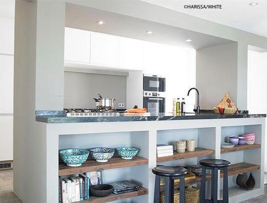 mueble bajo barra cocinasmodernascemento casita en 2019