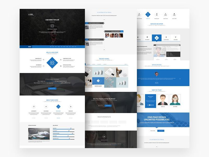 Personal Website Template Free Psd Free Website Templates Personal Website Templates One Page Website