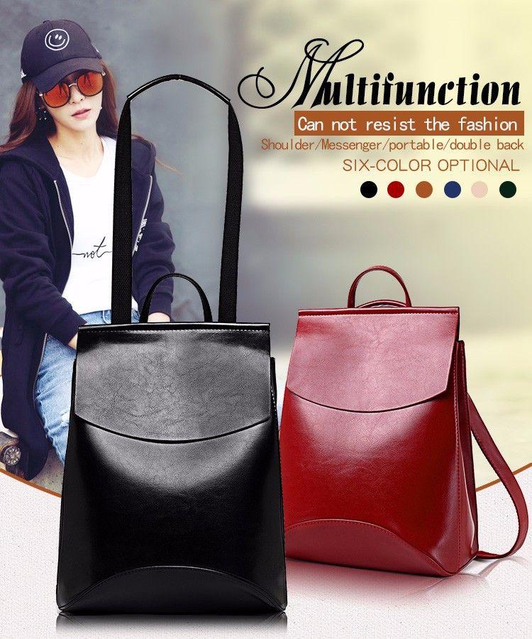 5ca56b8b98a6 Fashion Women Backpack High Quality Youth Leather Backpacks for Teenage  Girls Female School Shoulder Bag Bagpack