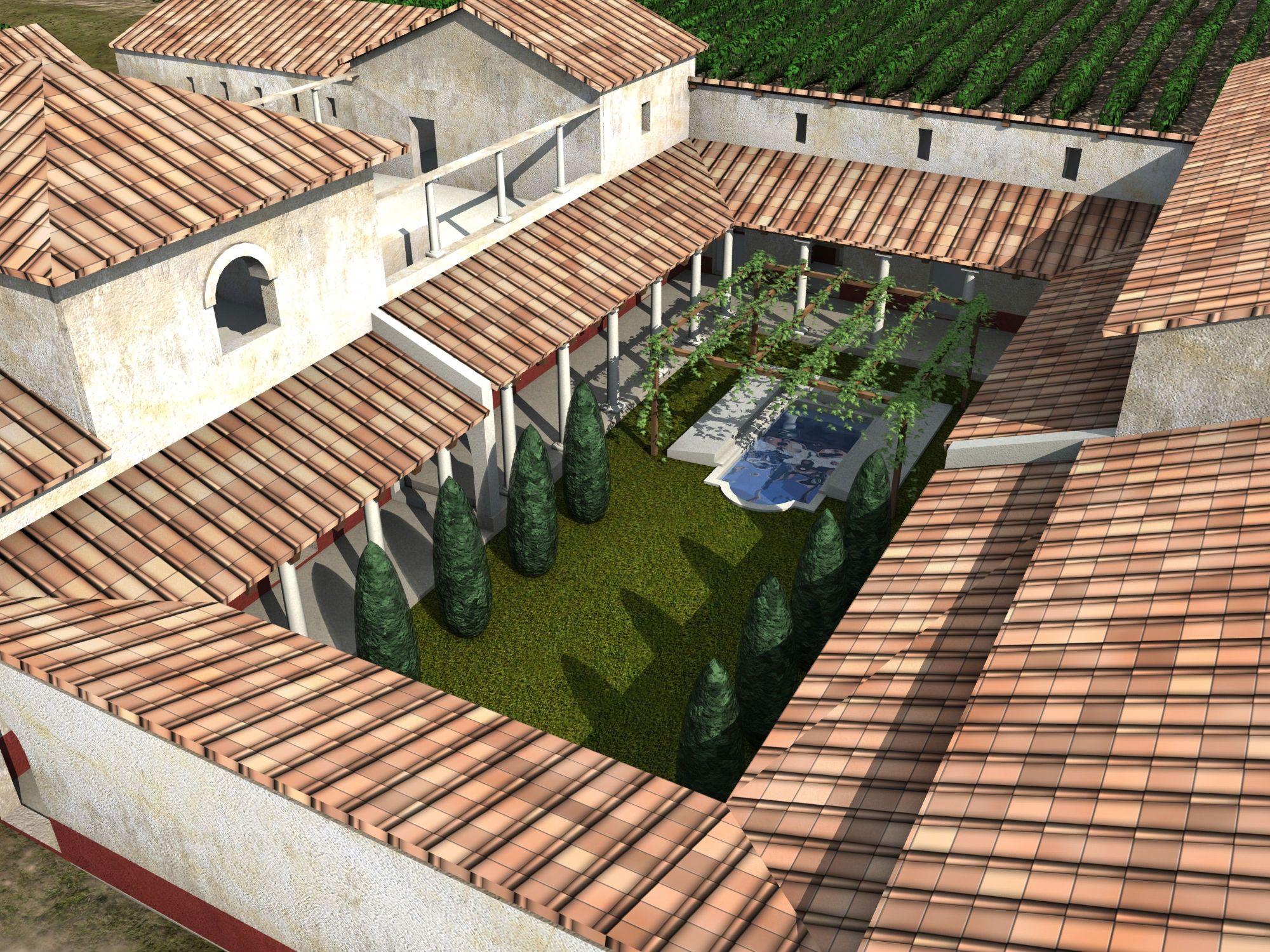 P 233 Ristyle Dans Les Maisons Romaines Il Y Avait