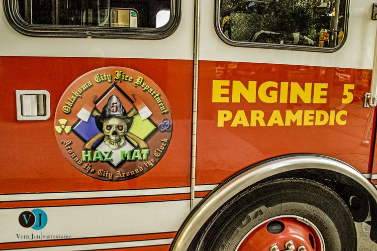 Oklahoma City Fire Department Engine 5 Hazmat 5 Paramedic Unit Paramedic Engineering Firefighter