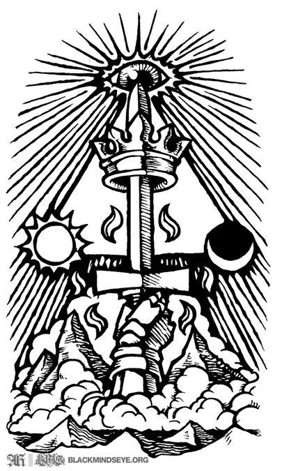 Ace Of Swords Left Arm Ace Of Swords Sword Tattoo Art