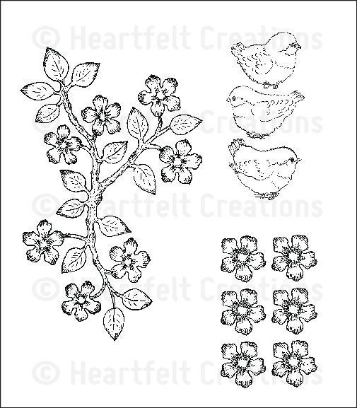 Birds And Blooms Cling Stamp Set Click To Enlarge