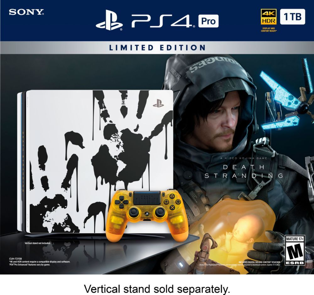 Sony – PlayStation 4 Pro 1TB Limited Edition Death Stranding Console Bundle