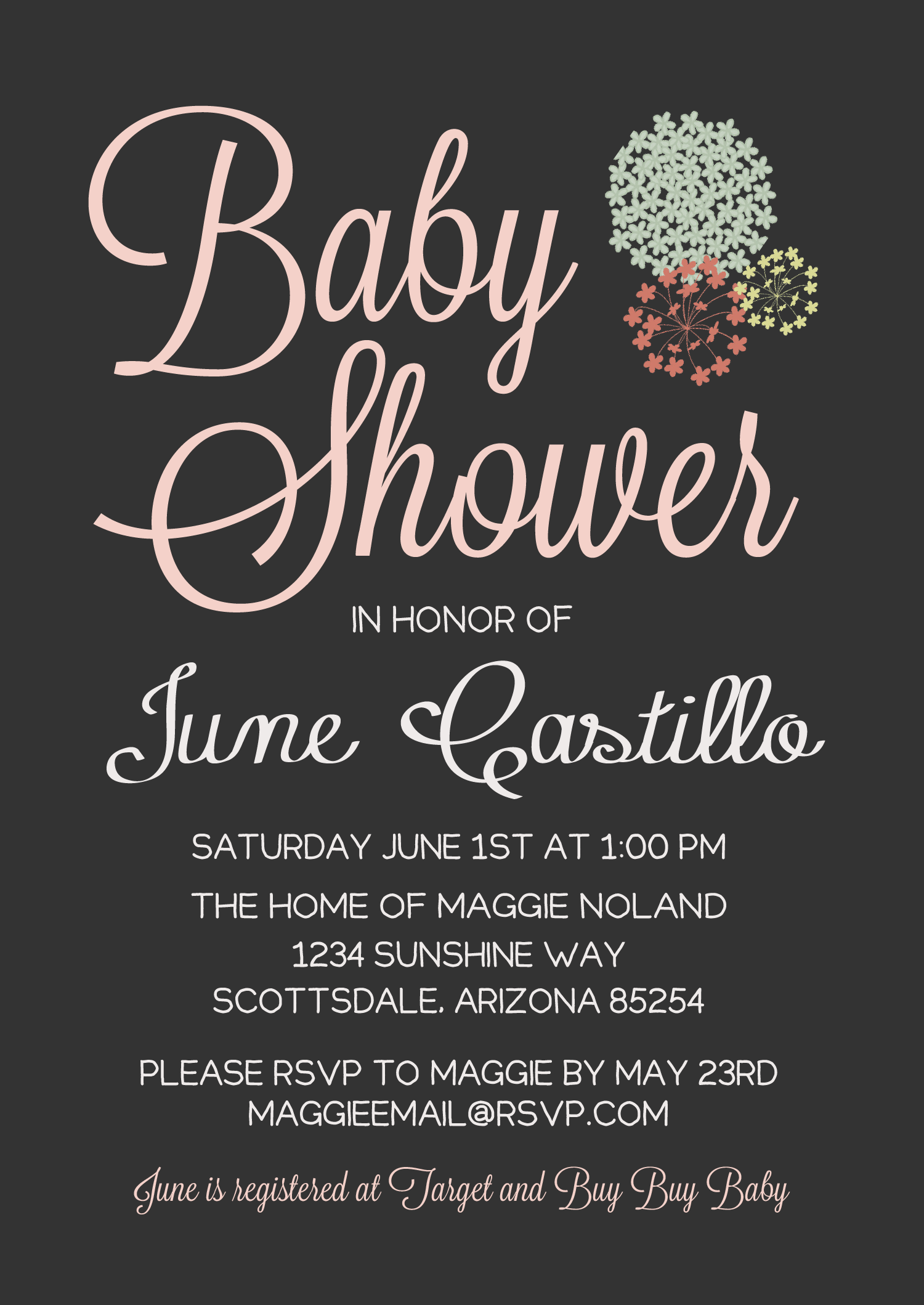 Instead of Baby shower it could be Bridal shower