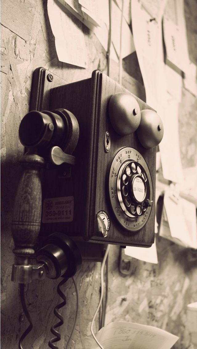 Vintage Telephone Tap to see more nice vintage wallpaper