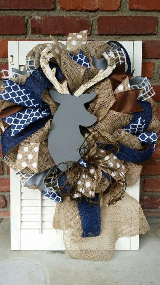 Fall Deer Wreath With Burlap Ribbon It S Fall Ya Ll
