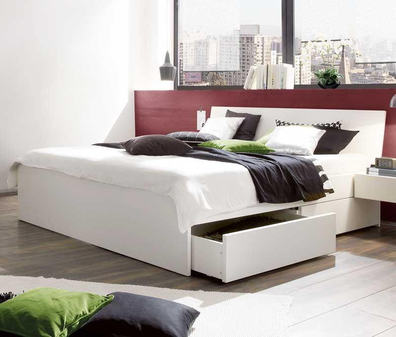 Weißes-Bett-120X200-Mit-2-Schubladen-Für-Moderne-Schlafzimmermöbel