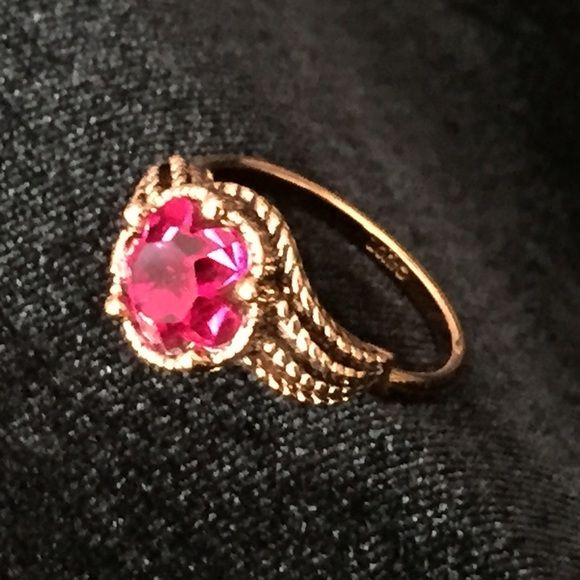 Gold Ruby Ring by Avon Gold ruby ring Avon and Costume jewelry