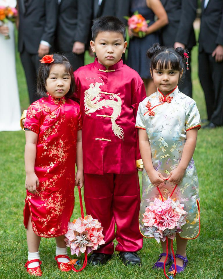 a19bf015429 Incorporate cultural tradition into your wedding by donning the flower girl  and ring bearer in traditional clothing.