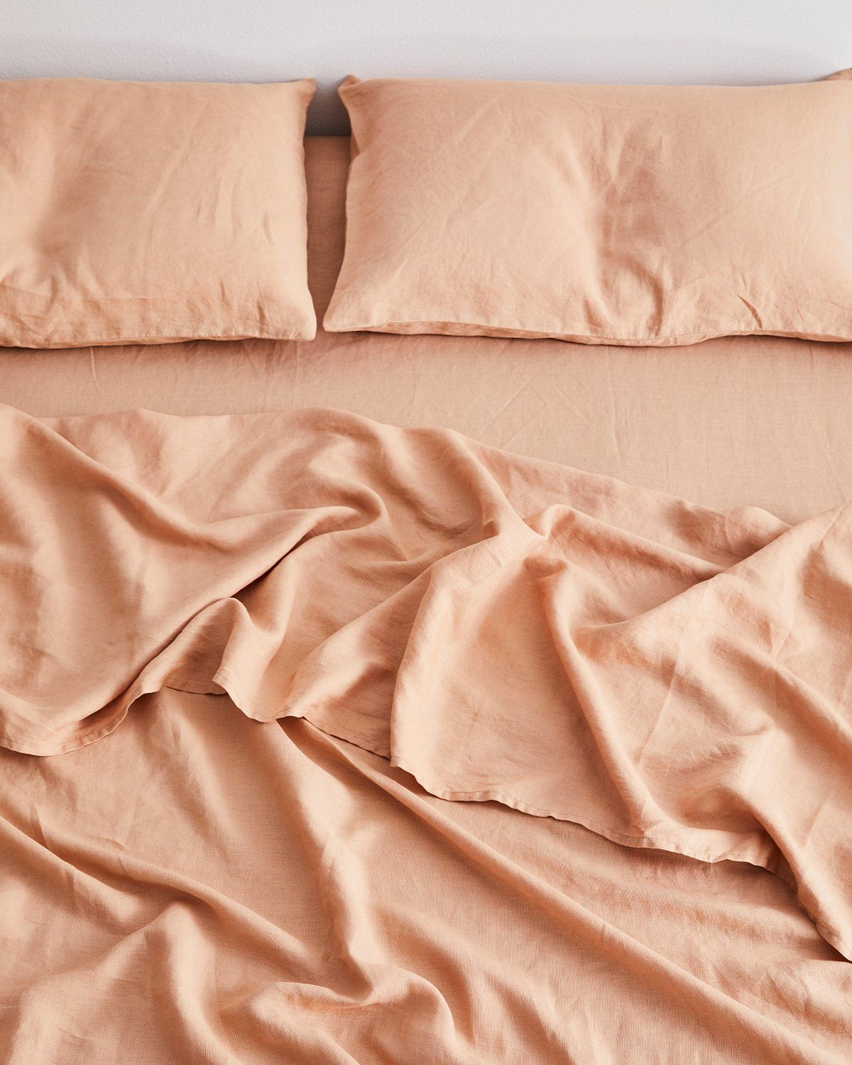 Rust 100 Flax Linen Bedding Set In 2020 Linen Sheet Sets Bed Linen Sets Linen Sheets