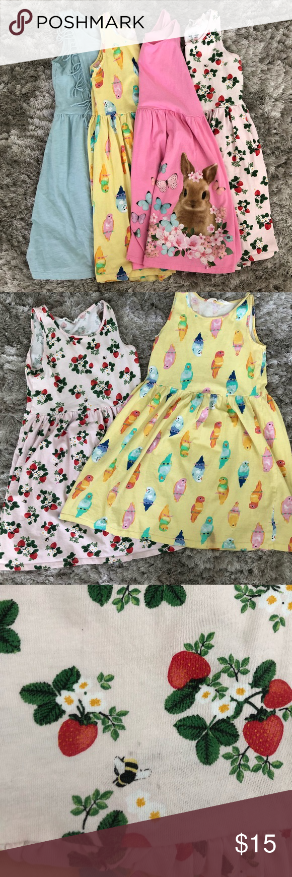 Girls H&M Tank Dresses (With images) Tank dress, Bird