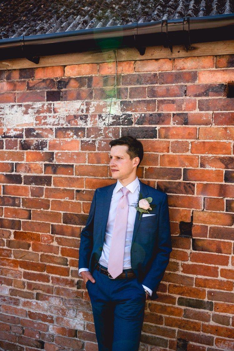 Navy Blue Hugo Boss Suit Groom Pink Tie Classic Rustic Country Barn Wedding http://www.lisacarpenterphotos.com/