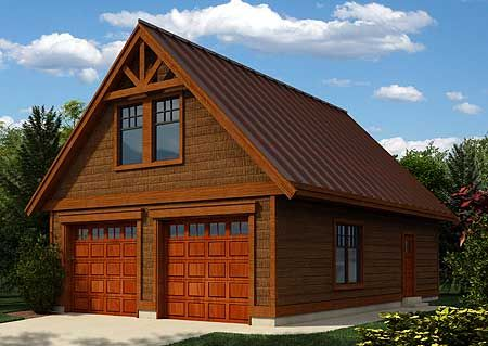 Plan 9823SW ShingleStyle Garage – Add On Garage Plans